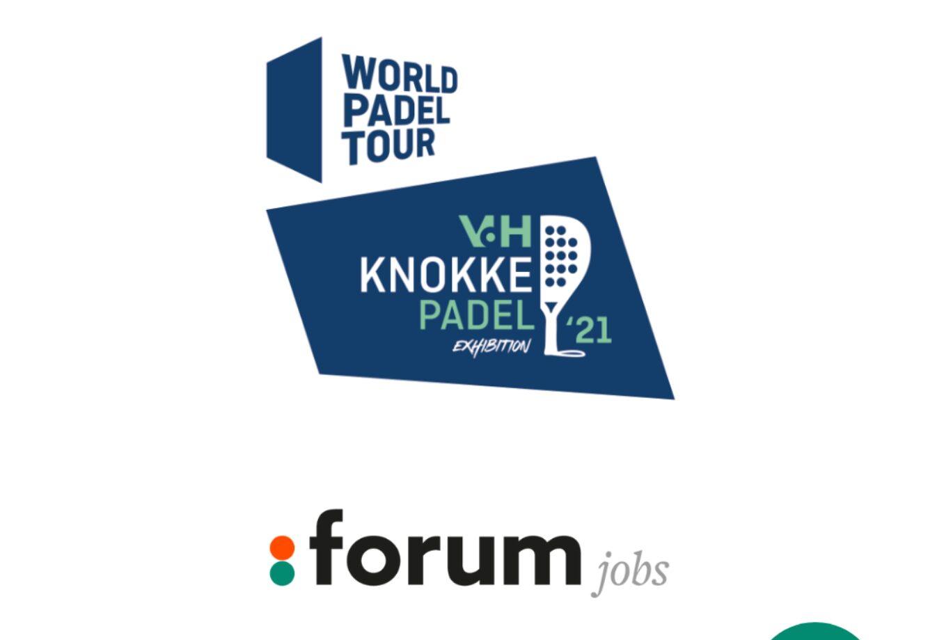 Forum Jobs is trotse sponsor van de World Padel Tour in Knokke